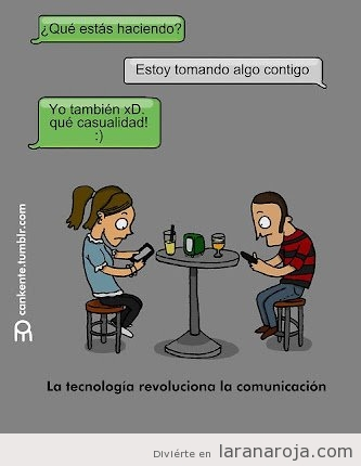 humor-grafico-viñeta-graciosa-chico-chica-tomando-algo-juntos-hablando-porr-whatsapp
