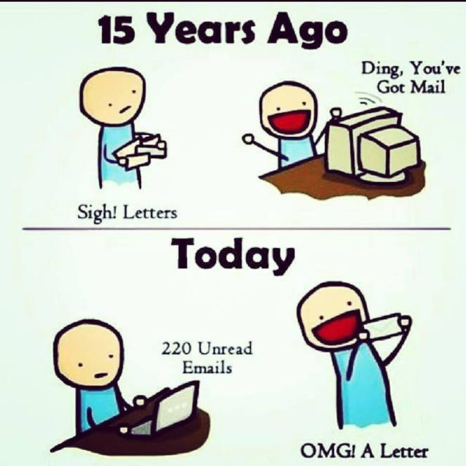 mail versus cartas