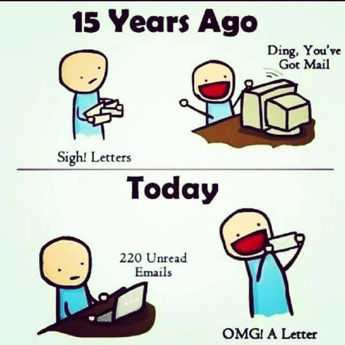 mail versus cartas