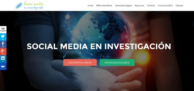 Imagen web social media en investigación